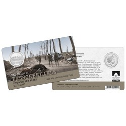 2017 50c The Western Front - Passchendaele 1917 - 2017 Unc Coin in Card