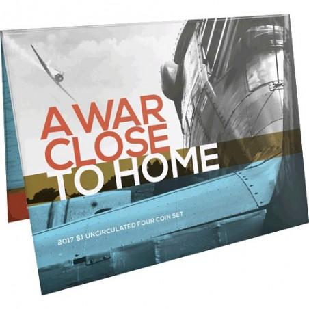 2017 $1 A War Close to Home 4 Coin Uncirculated Set