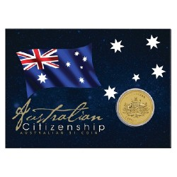 2014 $1 Australian Citizenship Coin in Card
