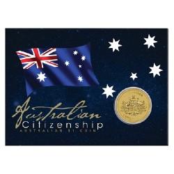 2014 $1 Australian Citizenship Coin in Card