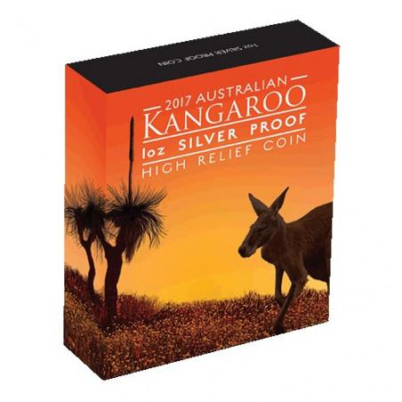 2017 $1 Australian Kangaroo 1oz Silver Proof High Relief Coin