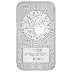 Perth Mint Kangaroo 1oz Silver Minted Bar Each