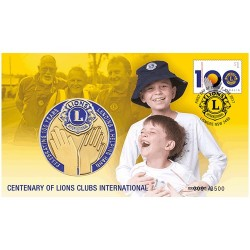 2017 Centenary of Lions Clubs International Medallion & Stamp Cover PNC