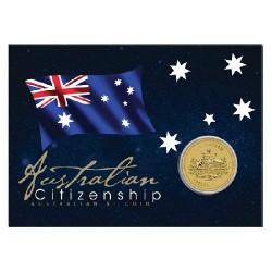 2012 $1 Australian Citizenship Coin in Card
