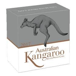 2017 25c Australian Kangaroo 1/4oz Silver Proof Coin