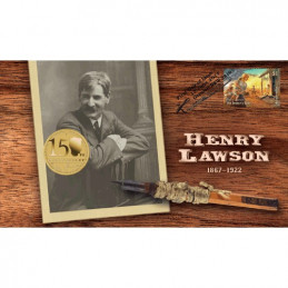 2017 $1 150th Anniversary of Henry Lawson Coin & Stamp Cover PNC