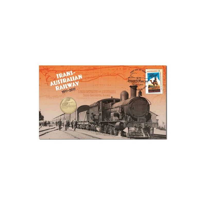 2017 $1 100th Anniversary Trans-Australian Railway RAM Coin & Stamp Cover PNC