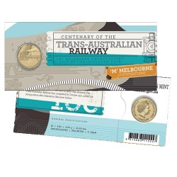 2017 $1 Centenary of the Trans-Australian Railway M Counterstamp