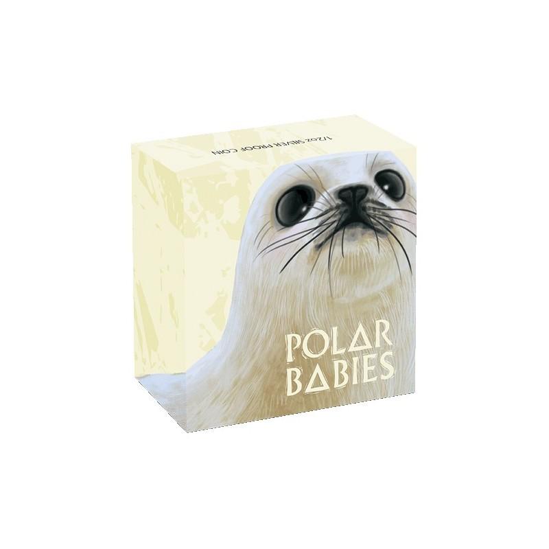 2017 50c Polar Babies Series - Harp Seal 1/2oz Silver Proof Coin