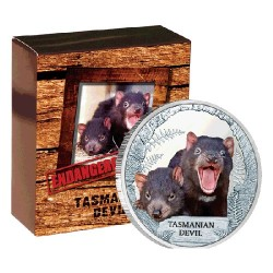 2013 $1 Endangered & Extinct Series - Tasmanian Devil 1oz Silver Proof Coin