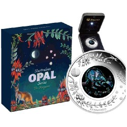 2013 $1 Australian Opal Series - The Kangaroo 1oz Silver Proof Coin