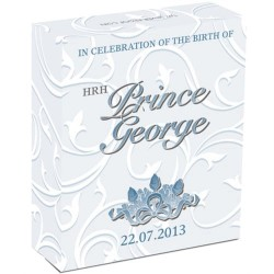 2013 $1 HRH Royal Baby Prince George 1oz Silver Proof Coin