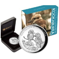 2013 $1 Australian Kookaburra 1oz High Relief Silver Proof Coin