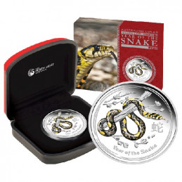 2013 50c Lunar Year of the Snake Coloured 1/2oz Silver Proof Coin