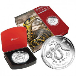 2013 $1 Lunar Year of the Snake 1oz Silver Proof Coin