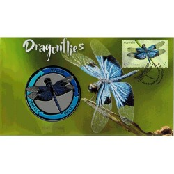2017 Dragonflies Medallion & Stamp Cover PNC