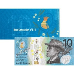2017 $10 RBA Folder Next Generation Unc Banknote