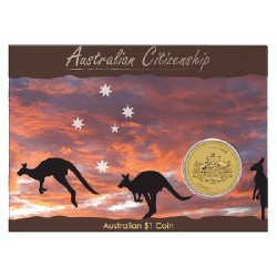 2010 $1 Australian Citizenship Coin in Card