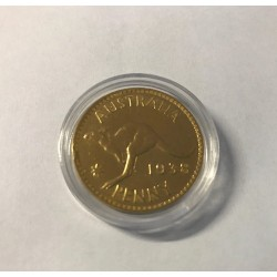 1938 Gold Plated Australian Penny Each