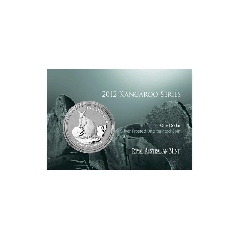 2012 $1 Australian Kangaroo 1oz Silver Frunc Coin in Card