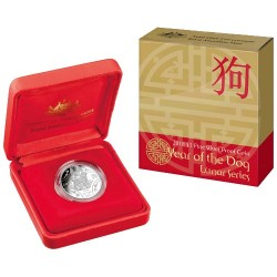 2018 $1 Year of the Dog - Lunar Series Fine Silver Proof Coin