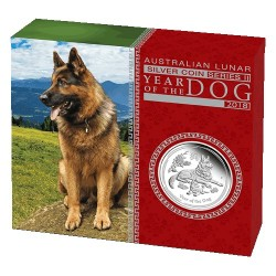 2018 $1 Australian Lunar Year of the Dog 1oz Silver Proof Coin
