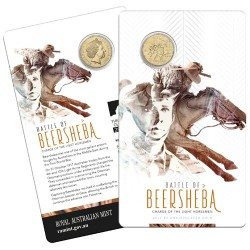 2017 $1 Battle of Beersheba : Charge of the Light Horsemen Uncirculated Coin in Card