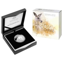 2018 $1 Kangaroo Series - Seasons Change Summer 1oz Silver Proof Coin