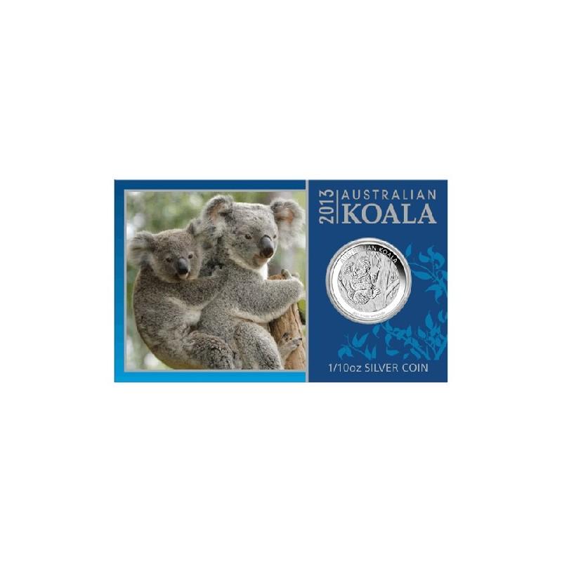 2013 10c Australian Koala 1 10th Oz Silver Bullion Bullion