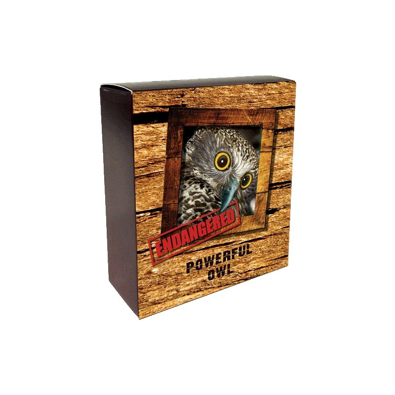 2018 $1 Endangered & Extinct Series - Powerful Owl 1oz Silver Proof Coin