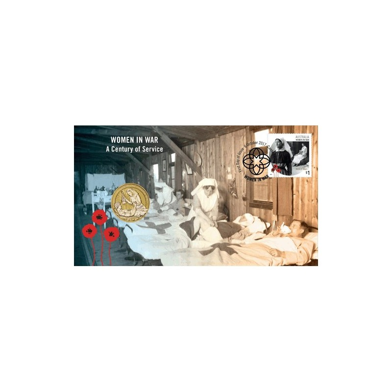 2017 $1 Women in War - A Century of Service Coin & Stamp Cover PNC