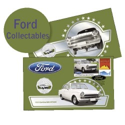 2017 50c Ford Cortina MK1 Coin & Stamp Cover PNC