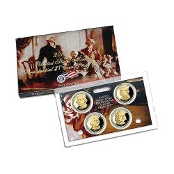 2012 $1 USA Presidential Dollar Proof Set 4 Coins