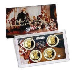 2008 $1 USA Presidential Dollar Proof Set 4 Coins