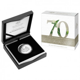 2017 50c 70th Anniversary Royal Wedding Silver Proof Coin