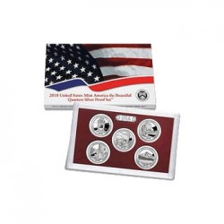 2010 $1 USA America the Beautiful Quarters Proof Set 4 Coins