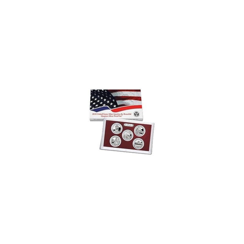 2010 $1 USA America the Beautiful Quarters Proof Set 4 Coins