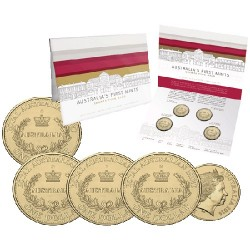 2016 $1 Australia's First Mints - Growth from Gold 4 Coin Mintmark & Privymark Set CPMS