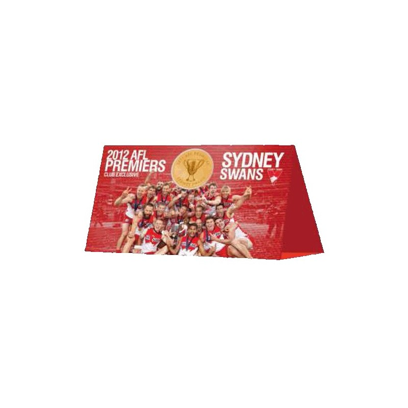 2012 $1 AFL Premiers - Sydney Swans Uncirculated Coin in Card