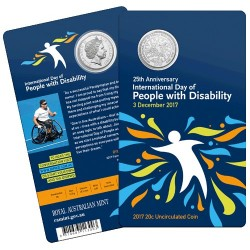 2017 20c 25th Anniversary of the International Day of People with Diability Unc Coin in Card