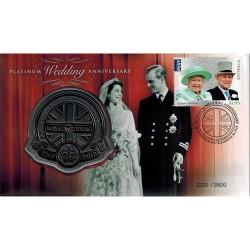 2017 Platinum Royal Wedding Anniversary 1947 - 2017 Limited Edition Medallion Cover PNC