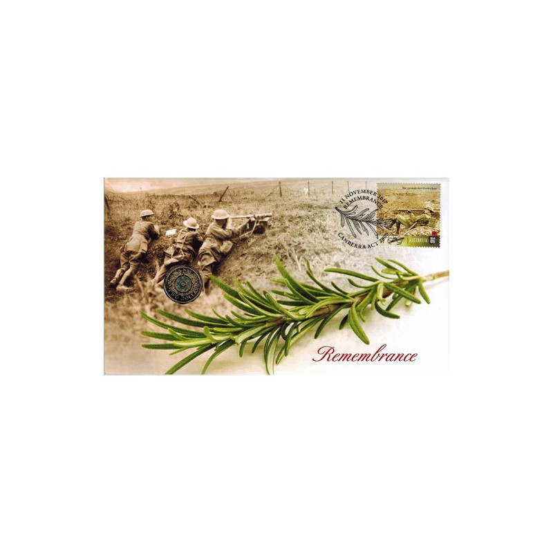2017 $2 Remembrance Day Coin & Stamp Cover PNC
