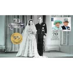 2017 $1 70th Anniversary of the Royal Wedding Coin & Stamp Cover PNC