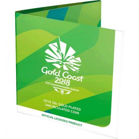2018 50c XXI Commonwealth Games Gold Plated Uncirculated Coin