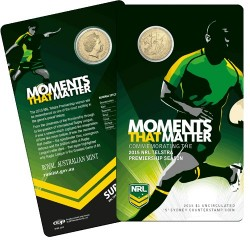 2015 $1 NRL Moments that Matter S Counterstamp Uncirculated Coin in Card