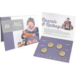 2018 $1 Ratbags & Rascals Al/Br Mintmark 4 Coin Set