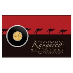 2018 $2 Mini Roo 0.5gm Gold Bullion Coin in Card