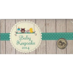 2014 $1 Baby Keepsake Uncirculated Coin in Card