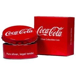 2018 $1 Coca-Cola Bottle Cap Silver Proof Like Coin