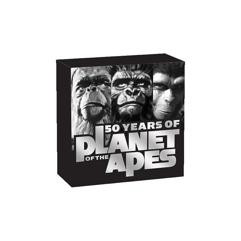 2018 $1 Planet of the Apes 50th Anniversary 1oz Silver Proof Coin